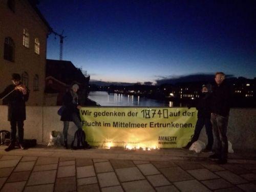 Asyl-AK: Gedenken für die auf der Flucht im Mittelmeer ertrunkenen Menschen